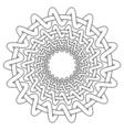 Nordic ethnic circular pattern vector image vector image