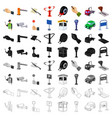 parking zone set icons in cartoon style big vector image vector image