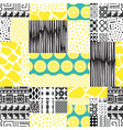 patchwork seamless texture vector image vector image