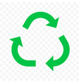 recycling arrow icon eco waste reuse bio recycle vector image vector image