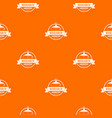 research laboratory pattern orange vector image vector image
