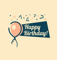 retro happy birthday greeting card vector image vector image