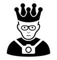 sad thailand king black icon vector image