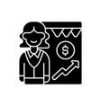 sales department black glyph icon vector image vector image