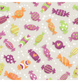 Seamless pattern with colorful sweets vector image vector image