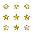 set of star eagle logo template eagle logo with vector image