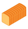 sliced bread isometric view isolated on white vector image