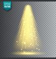 spotlight bright christmas glowing light vector image vector image