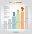 strategy bar chart vector image