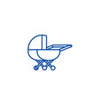 stroller line icon concept stroller flat vector image vector image