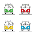 surf vehicle with surboard set in colorful vector image vector image