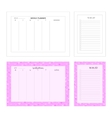 Temlape for print Weekly planner and to do list vector image vector image