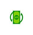 transfer money logo icon design vector image