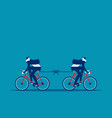 two bike are moving in opposite direction vector image vector image