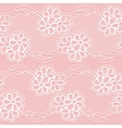 Two Lace Ribbons Seamless white floral tape on a vector image vector image