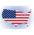 usa map with the national flag inside vector image vector image