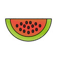 watermelon fresh fruit isolated icon vector image vector image