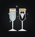 wedding glasses wedding glasses vector image