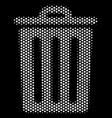 white halftone trash bin icon vector image vector image