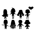 with child silhouettes collection vector image vector image