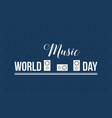 world music day style banner flat vector image vector image