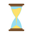 hourglass icon time sand hour clock glass design vector image