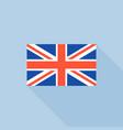 uk flat icon flat design vector image