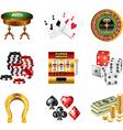 icons casino vector image