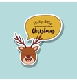 funny Christmas character isolated icon design vector image