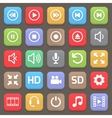 Video interface icon for web or mobile vector image