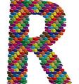 3d font letter R vector image