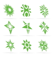abstract green symbol set vector image