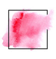 abstract isolated pink watercolor banner vector image vector image