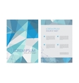 Abstract modern flyer brochure design vector image vector image