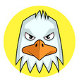 angry cartoon white bird on white background vector image vector image