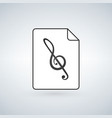 audio file icon on white background vector image vector image