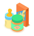 baby food icon cartoon isometric 3d style vector image