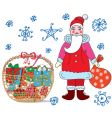 basket Christmas vector image vector image