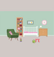 bedroom interior background babed-room colored vector image