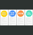 best price 40 off new sale half price set labels vector image vector image