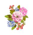 bright floral bouquet vector image