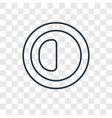 brightness option concept linear icon isolated on vector image