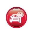 button with car and key vector image vector image
