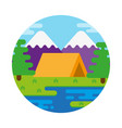 camping outdoor vector image vector image