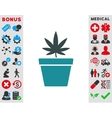 Cannabis Pot Icon vector image
