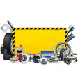 car spares yellow frame vector image vector image