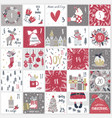 christmas advent calendar countdown till vector image