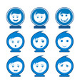 circle smile face character set logo concept vector image vector image