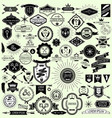 collection vintage labels and stamps for design vector image vector image
