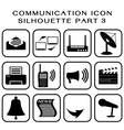 Communication icon part 3 vector image